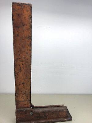 Brown Sharpe Machinist Square 541 27 X 13 34 Inch With Wooden Stand.