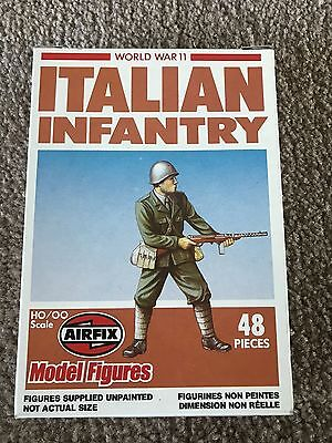Brand New in Box Airfix Model Figures HO/OO Scale Italian Infantry - 48 Pieces!!