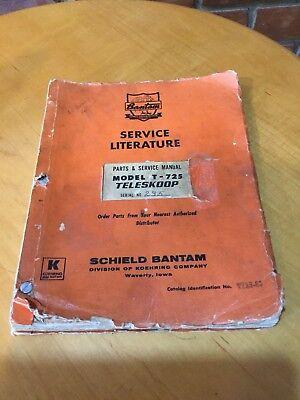Vintage 1967 Koehring Bantam Parts Service Manual T-725 Teleskoop