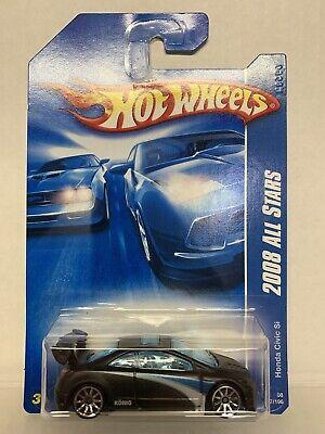 Hot Wheels 2008 All Stars Honda Civic Si - Black 1:64 Scale