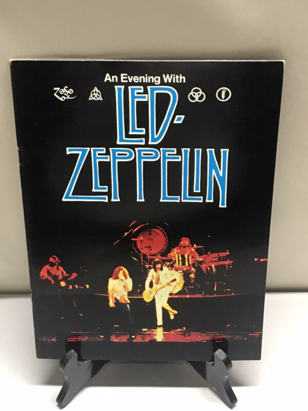 An Evening With Led Zeppelin United States of America 1977 Tour Program Vintage