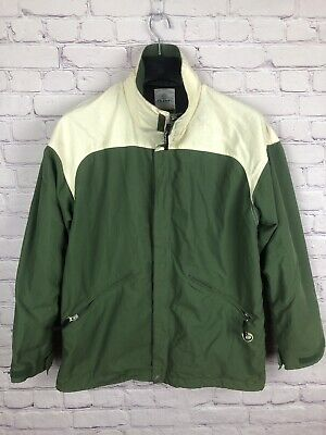 Burton Snowboard Jacket Stormlite Size M Green Off White Winter Ski Snow Zip