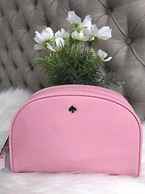 New Kate Spade Jae Medium dome cosmetic pink/ bright carnation cute gift