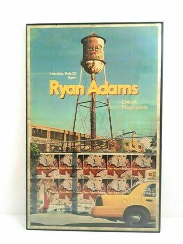 Ryan Adams Prisoner Live At Fingerprints Concert Poster Framed Mon Feb.20