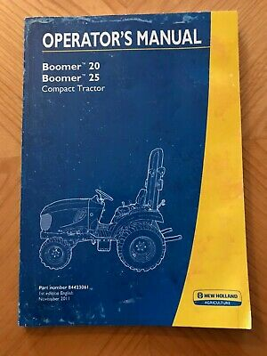 New Holland Boomer 20 Boomer 25 Compact Tractor Operators Manual Nov 2011