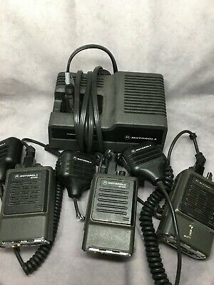 Lot Of 3 Motorola Mt1000 Handie Talkie Radio W 1pc Battery Charger 3pc Mic 7