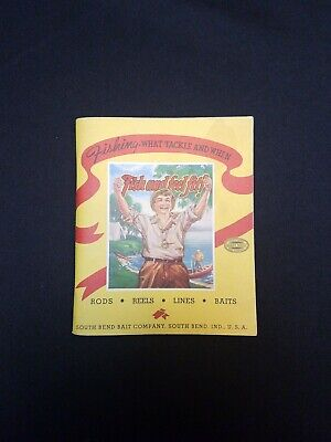 1941 South Bend Bait Co Fishing Catalog  South Bend Indiana Tackle Fly Fishing