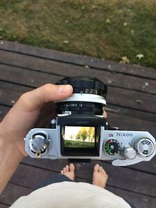 Nikon F w/ 55mm F 1.2 two finders and lens