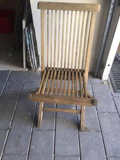 Teak Table and 6 teak chairs