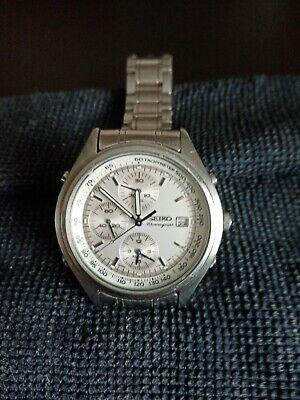 Vintage Seiko 7t32 7c60 Mens Lumibrite Military Style Chronograph Watch