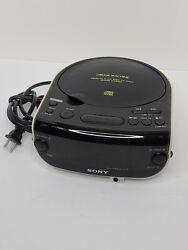 Sony Dream Machine ICF-CD815 FM/AM CD Clock Radio CD-R/RW Playback Alarm Tested