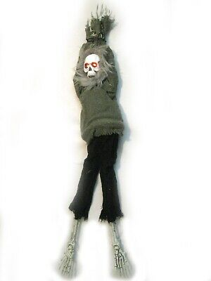 Animated Kicking Legs Skeleton Man Scary Halloween Haunted House Party Prop 36""