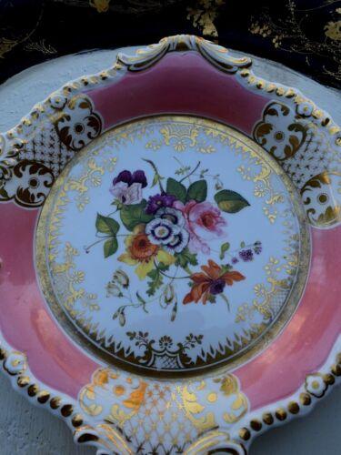 Antique Pair Of Paris Porcelain Plates Dish