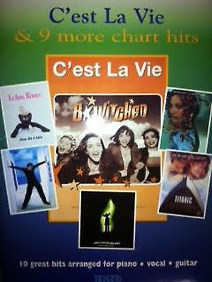 C'est la Vie and 9 More Chart Hits Nineties Songbook Sheet Music Piano Voice
