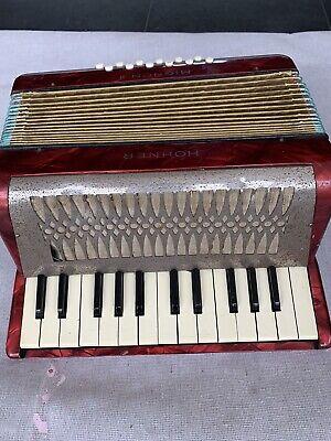 Hohner Mignon II  Piano Accordion Red .