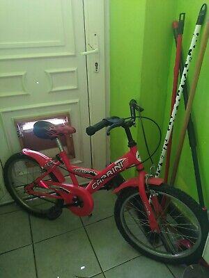 vélo pour enfant   couleur rouge motif flame deux roues pas de vitesse