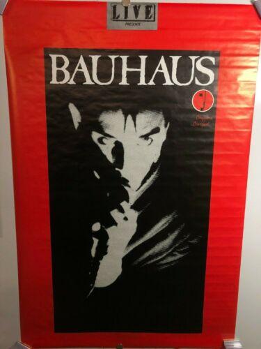 HUGE SUBWAY POSTER BAUHAUS Bela Lugosi Beggars Banquet Records PETER MURPHY RARE