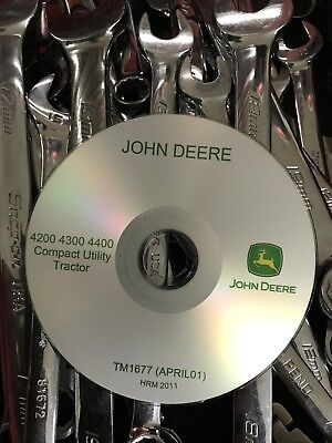 John Deere 4200 4300 4400 Compact Utility Tractor Service Repair Manual Tm1677cd