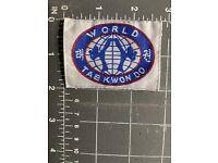 "World Taekwondo Federation WTF Martial Arts Patch 3.5/"" P1219"