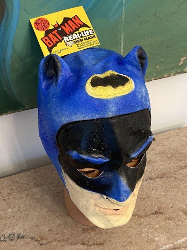1977 BATMAN NOS RUBBER MASK BY BEN COOPER! Vintage Halloween!