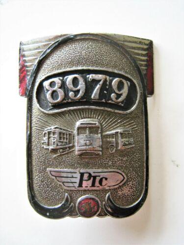 Vintage Philadelphia Transportation Company Badge PTC Operator 8979 Trolley