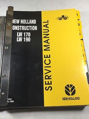 New Holland Lw170 Lw190 Wheel Loader Repair Service Manual