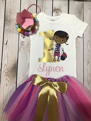 Doc Mcstuffins Birthday Outfit (First Birthday Doc Mcstuffins outfit, Birthday outfit girl, doc mcstuffins)