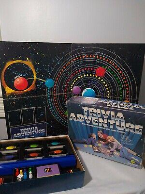 Trivia Adventure Game Board Solar System Vintage 1983 Pressman Solar System Board Game