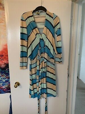 Issa Summer Midi Wrap Dress Size 12