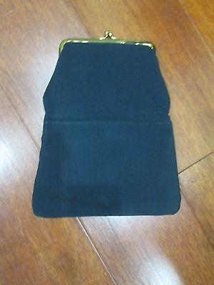 Vintage Ingber Framed Fold Over Fabric Clutch ~ True Vintage