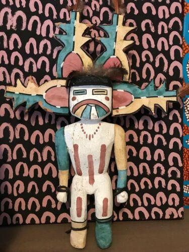 "Rare Antique Rio Grand Pueblo Katsina 20"" Tall 1920"