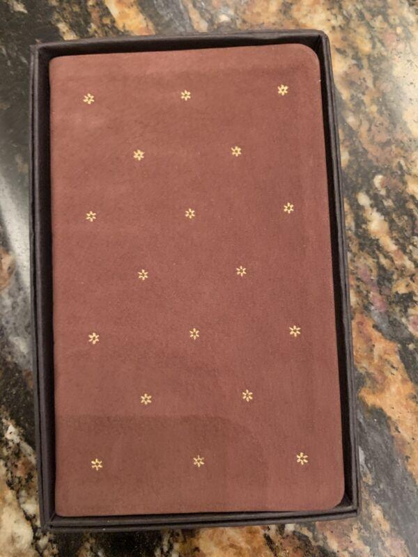 Vintage Michael Graves Leather Gold Star 1991 Calendar Pocket Planner book New
