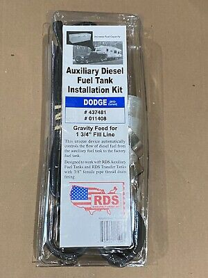NEW RDS #11408 Diesel Install Kit for Auxiliary & Transfer Fuel Tanks for Dodge