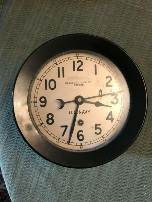 US Navy Chelsea Clock WWII/Korean War Era Course or Zig Zag Clock