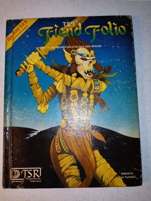 AD&D Fiend Folio Monster Advanced Dungeons & Dragons TSR 1981