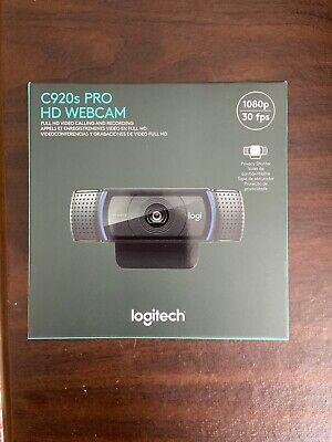 BRAND NEW Logitech C920s Pro HD Webcam w/ Privacy Shutter