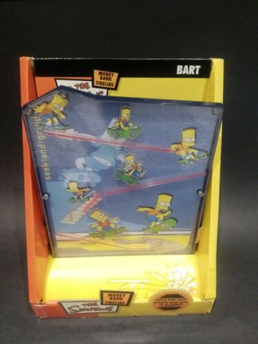 BART SIMPSON MONEY BANK WATCH BART SKATE NEW IN BOX ( RARE)