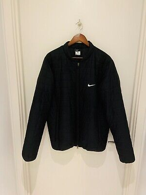 Nike Mens Black Bomber Jacket Size L