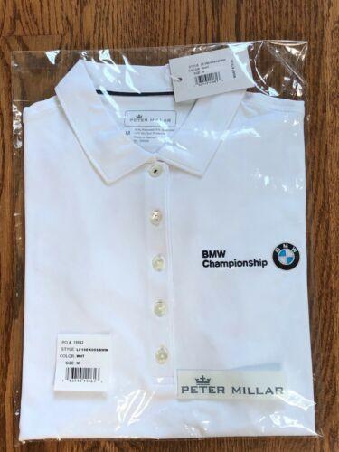 Peter Millar BMW Championship Medinah Ladies Medium Golf Shirt BRAND NEW w/tags