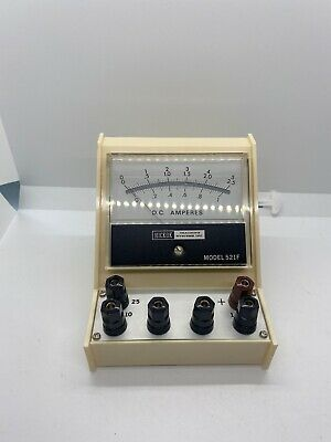 Vintage Nos Hickok Teaching Systems Model 521f Amp Meter Dc