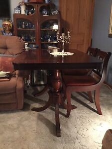 ANTIQUE DINING SUITE...TABLE and 4 CHAIRS