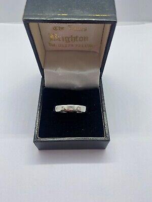 Heavy 18k White Gold And Diamond Ring