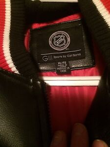 Detroit Red Wings leather jacket Peterborough Peterborough Area image 3