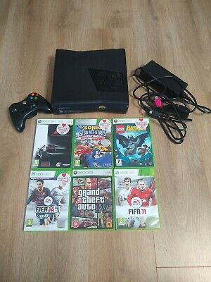 Xbox 360 Console With Leads, Controller and 6 games - GTA, Forza, Lego, Sonic