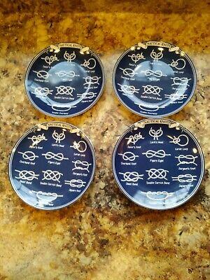Dessert Plates Set (222 Fifth Nautical Knot appetizer dessert Plates 6-1/4