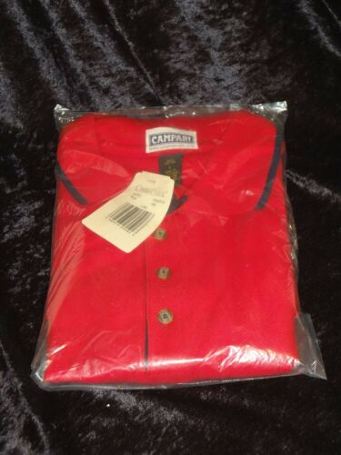New & Sealed Campari Branded Bar & Alcohol Industry Promo Red Polo Shirt (Large)