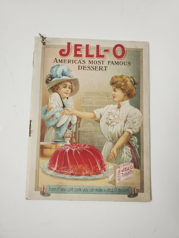 VINTAGE JELL-O DESSERT COOK BOOK EARLY 1900 ADVERTISING GENESEE PURE FOOD CO