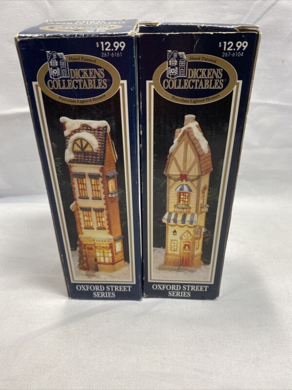 Lot Of 2 1994 Dickens Collectables Oxford Street Series Toy Gift Shop New