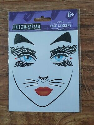 Brand New Unused Hallow-Scream Face Stickers (Halloween)