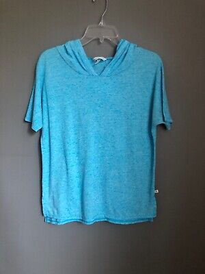 Aqua Top - Victoria's Secret Hooded Top Heather Aqua Blue Size XS